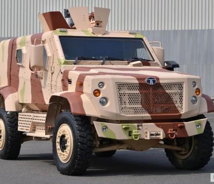 Tata Motors Showcases Frontline Combat Vehicles Kestrel