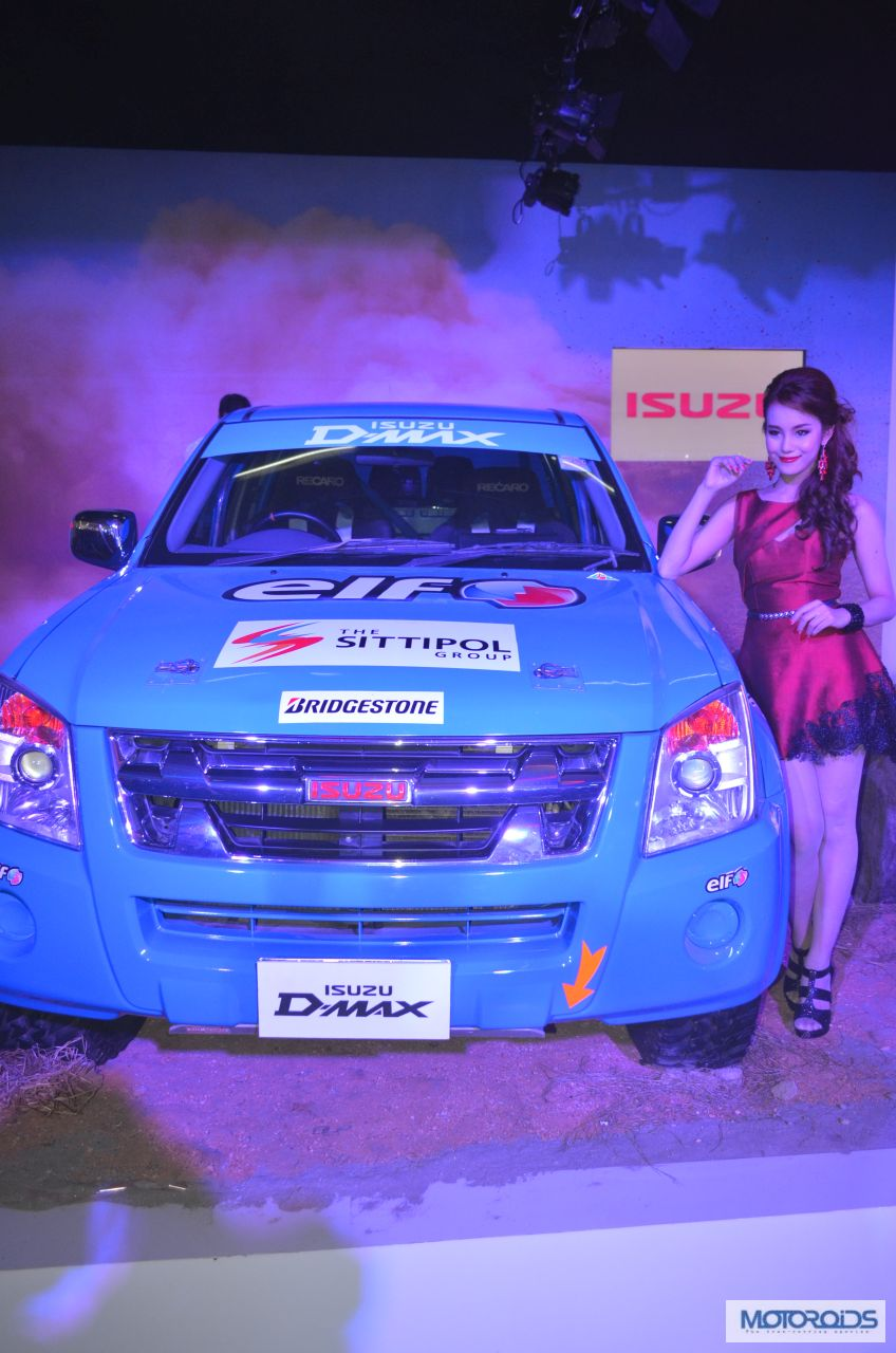 Isuzu motors d max and mu 7 unveiled at auto expo 2014 for D and a motors