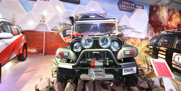Modified Thar at Auto Expo 2014 750x380 Mahindra Thar Midnight Edition at Auto Expo 2014: Images and Details