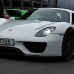Porsche 918 Spyder production variant spotted