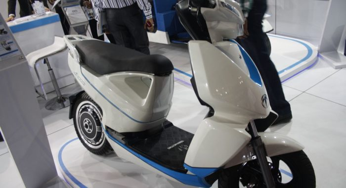 Terra Motors showcases A 4000i Scooter and T4 electric Three Wheeler at Auto Expo 2014