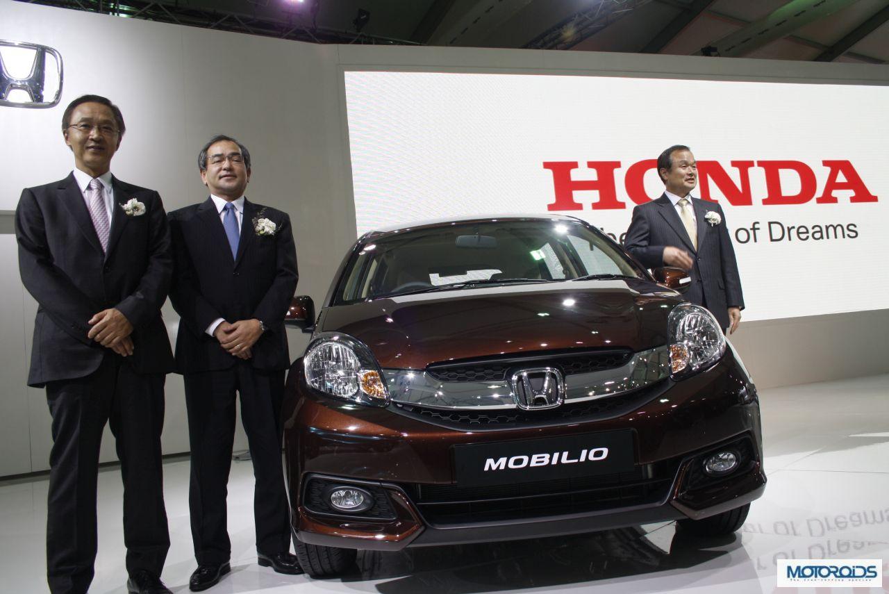 Auto Expo 2014 LIVE: New Honda Mobilio India debut Images & Details   Motoroids