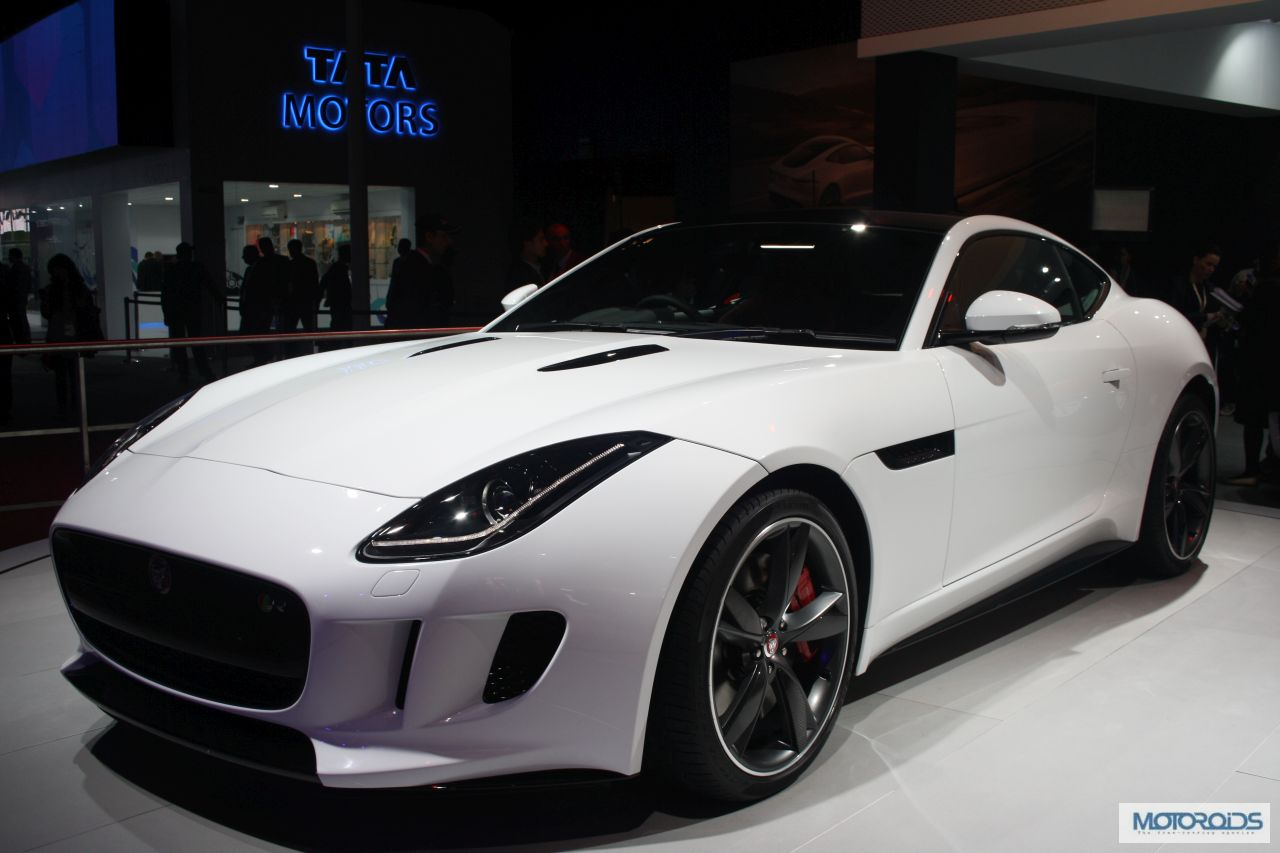 jaguar f type coupe c x17 and project 7unveiled at the auto expo 2014 images and details. Black Bedroom Furniture Sets. Home Design Ideas