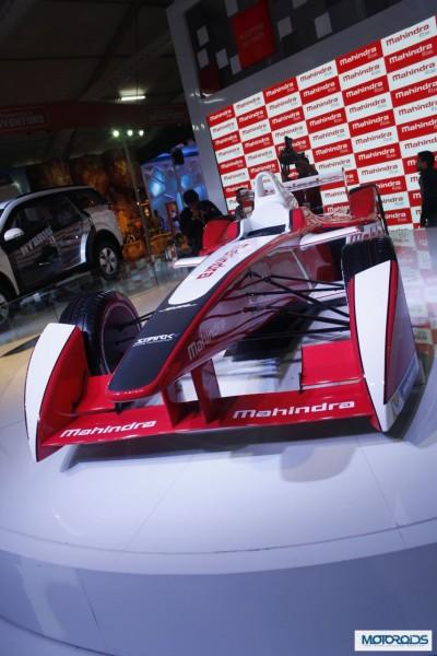 Auto Expo 2014: Mahindra Showcases their FIA Formula E Race Car [Images and Details]