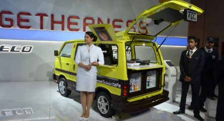 maruti Suzuki Omni licious cafe at Auto Expo 2014)