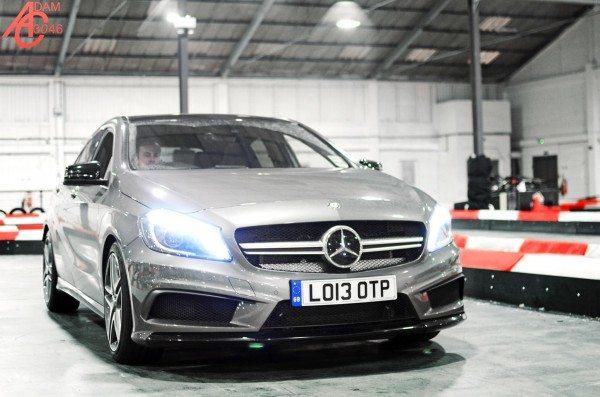 Video: Mercedes A45 AMG on a Go Kart Track