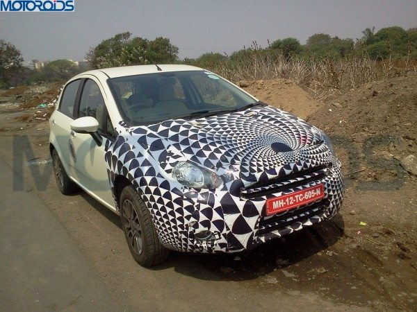 Fiat Punto Facelift India Launch Soon; Spotted in Pune yet again