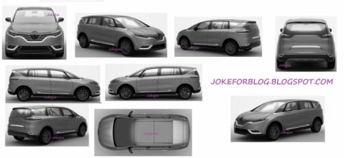 New 2014 Renault Espace patent images leaked