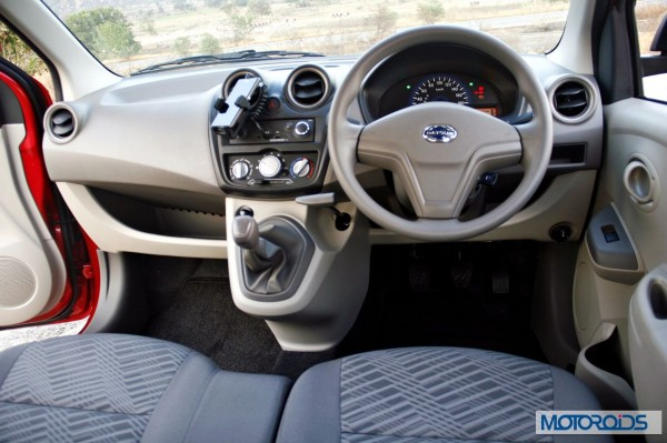 Datsun Go India review interior (23)