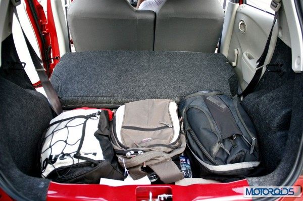 Datsun Go Boot Space with stuff