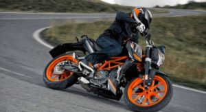 KTM Duke 390 stock image