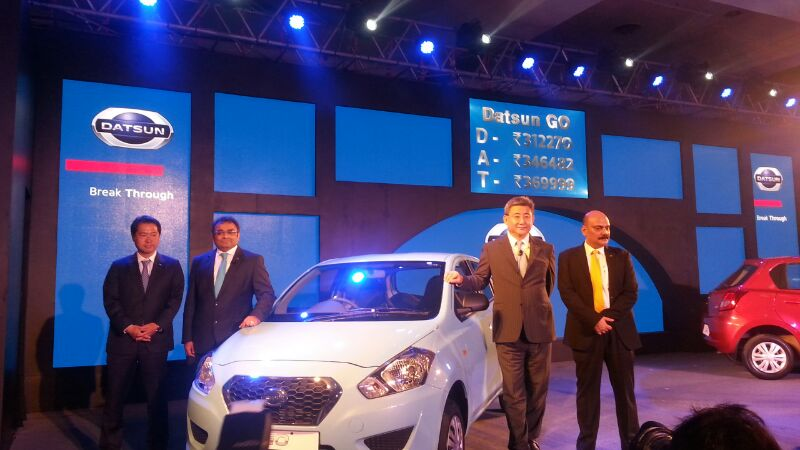 LIVE from Datsun Go India launch event [Images, Price ...