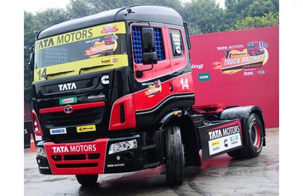 tata prima truck racing images 1