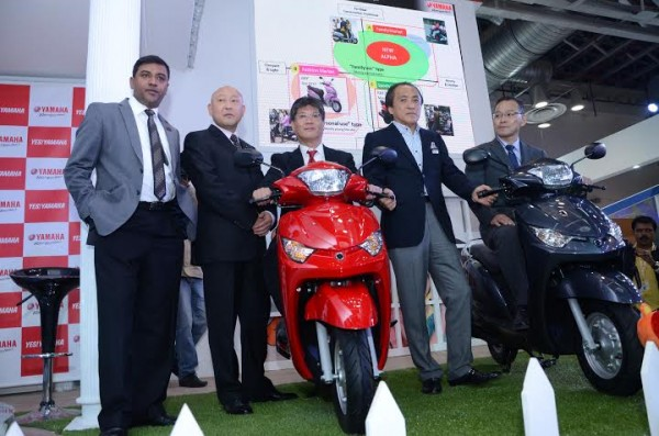 Yamaha Alpha automatic scooter launched in India @ INR 48,175