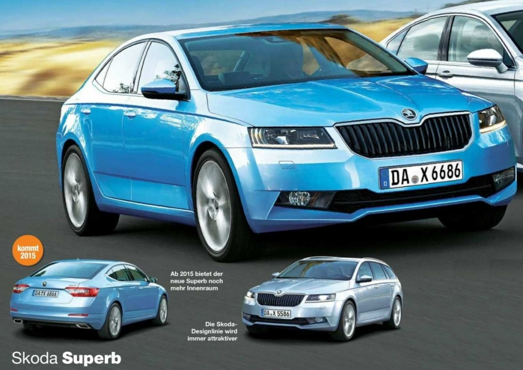 Next Gen 2016 Skoda Superb Rendered Motoroids