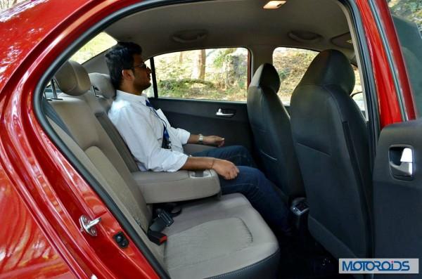 Hyundai Xcent backseat