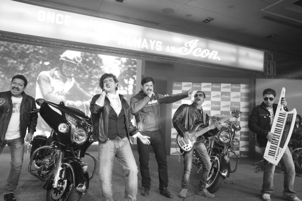 Mr. Pankaj Dubey, Managing Director, Polaris India with Palash Sen of Euphoria at the launch of Indian Motorcyle