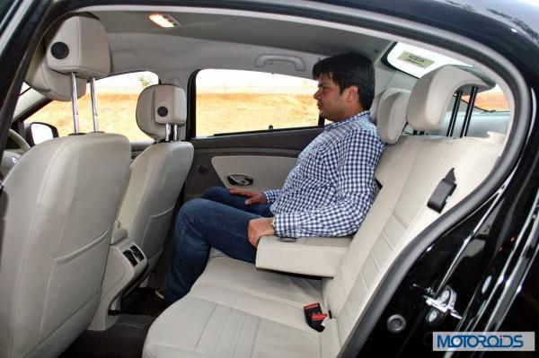 New 2014 Renault Fluence facelift backseat