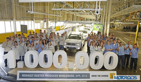 Renault Dacia one millionth Duster rolls out in Brazil