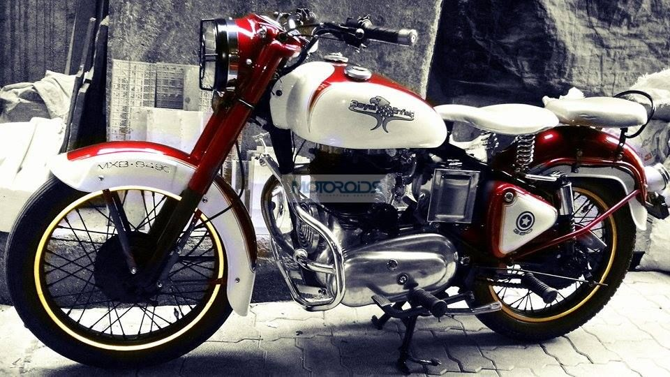 lightly modified Royal Enfield Bullet motorcycle | Motoroids