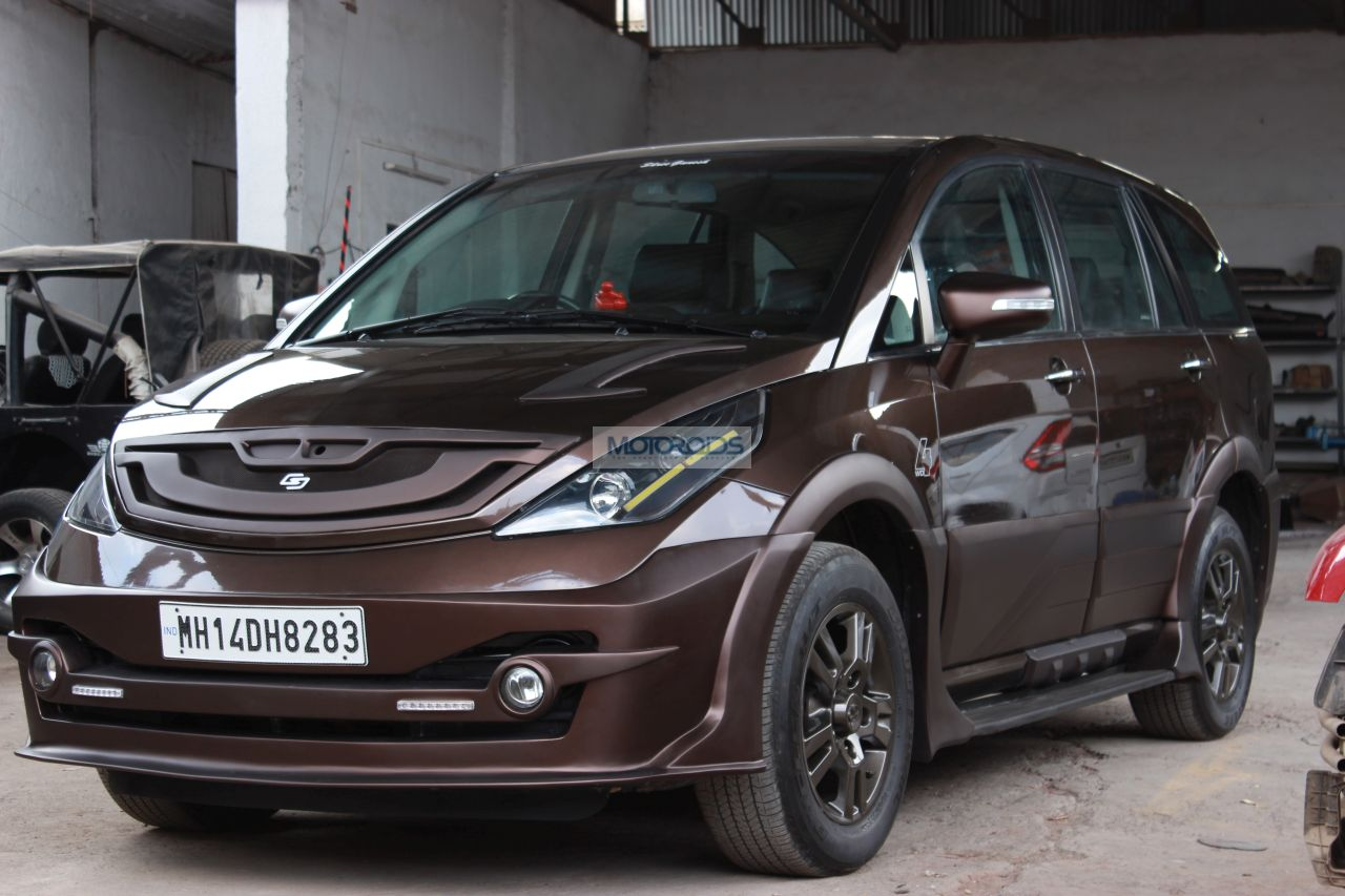Check Out This Tata Aria Modification By Grounddesigns