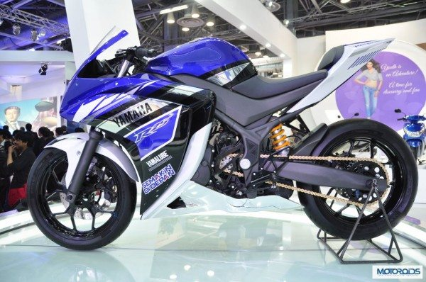 The Yamaha R25 prototype at the Tokyo Motor Show in Nov. 2013