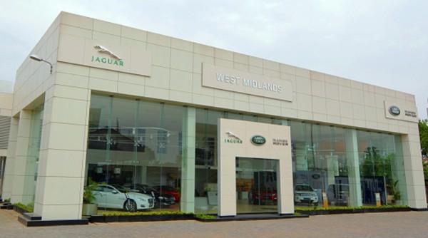 Exterior shot - Jaguar Land RoverNagpur showroom
