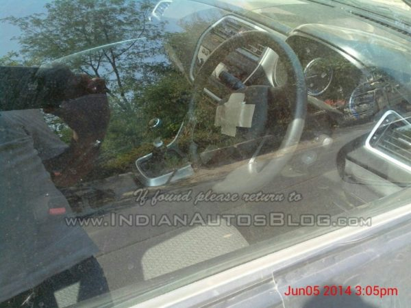 Maruti-SX4-S-Cross-diesel-spied-in-India-interior