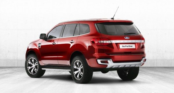 New Ford Endeavour Rear
