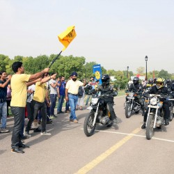 Royal Enfield flags off 11th Himalayan Odyssey from India Gate
