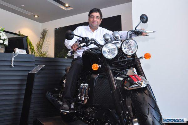 Triumph motorcycles showroom Delhi (1)
