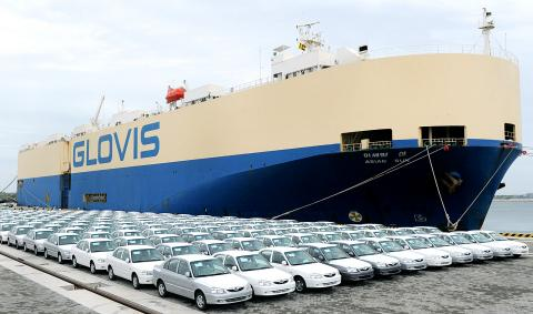 cars at a port