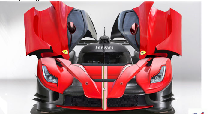 Fan made LaFerrari LMP1 Racer rendering imagines Ferrari's Le Mans contender.