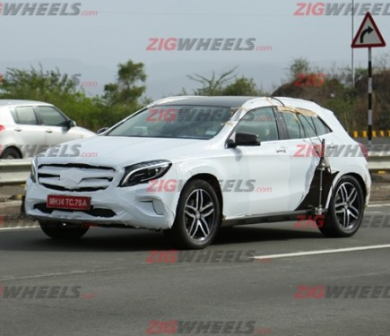 Mercedes benz gla spied details here motoroids for Mercedes benz gla india