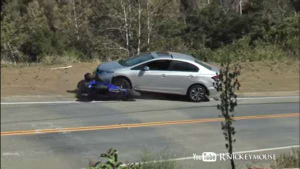 yamaha r6 honda civic crash