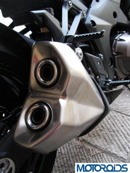 2014 Kawasaki Z1000 brushed metal exhaust