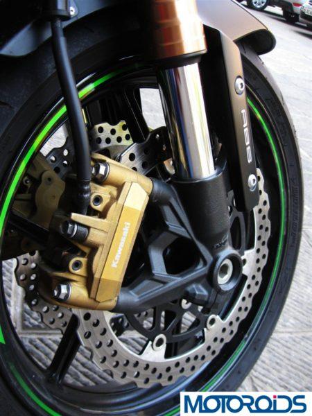2014 Kawasaki Z1000 front suspension