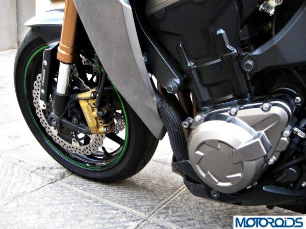 2014 Kawasaki Z1000 left engine cover