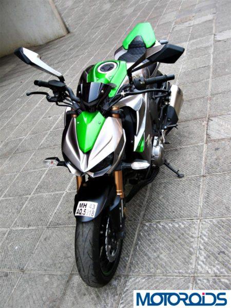 2014 Kawasaki Z1000 top view