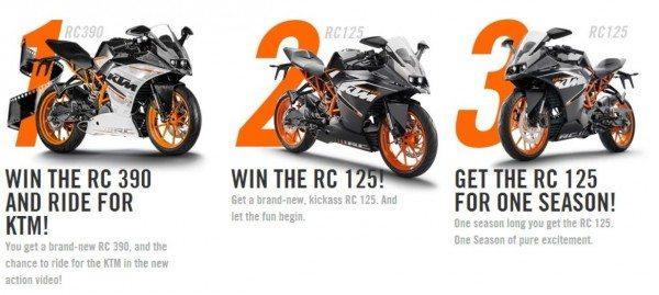 KTM Escape Your Daily Race Challenge Prizes