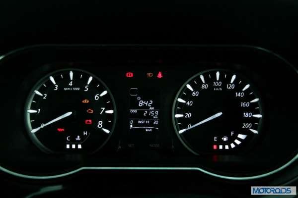 Tata Zest 1.2 revotron petrol instruments (2)
