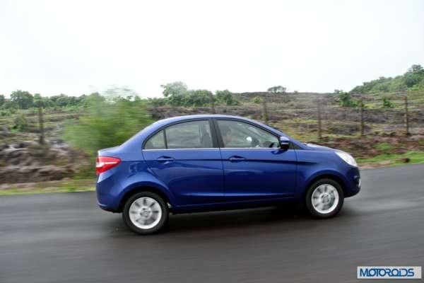 Tata Zest 1.2 revotron petrol side action (4)
