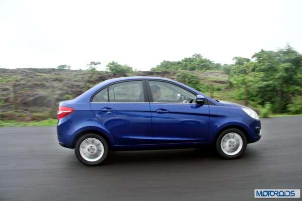 Tata Zest 1.2 revotron petrol side action (5)