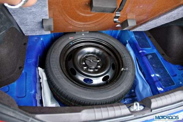Tata Zest 1.2 revotron petrol spare wheel