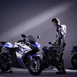 Video: The Yamaha R25 and Valentino Rossi unite once again
