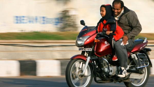 kid riding a motorbike