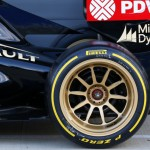 F1 testing new tire and wheel design