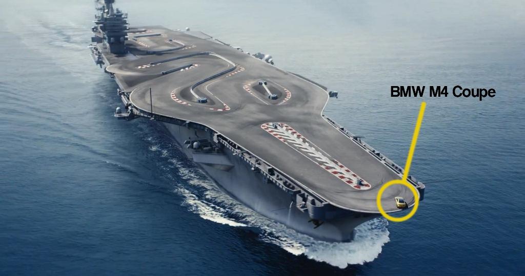 BMW M4 goes drifting on an Aircraft Carrier | Motoroids