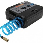 A portable air-pump which looks like a walkman and weighs 500 gms