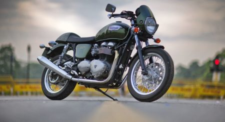 2014 Triumph Thruxton Side View